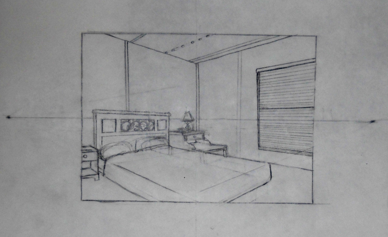 Living Room 2 Point Perspective 2 point perspective room interior | pilotschoolbanyuwangi